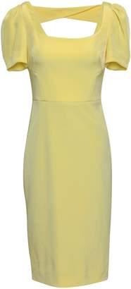 Rebecca Vallance Cutout Gathered Crepe Dress