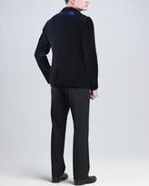Giorgio Armani Velvet Shawl-Collar Jacket