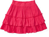 Ralph Lauren 7-16 Tiered Gauze Pull-On Skirt