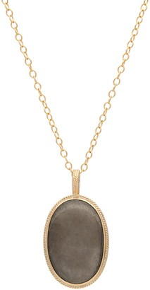 Anna Beck 18K Gold Plated Sterling Silver Smooth Pyrite Pendant Necklace