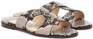 Jimmy Choo Atia snake-effect leather sandals