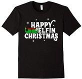 Men's Happy Elfin Holidays Christmas Sweater Shirt 3XL