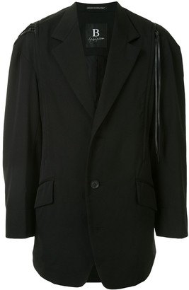 Yohji Yamamoto Drop Shoulder Blazer With Zip Detail