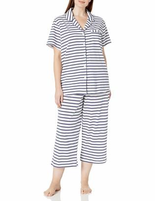 Karen Neuburger Women's Plus Size Short Sleeve Girlfriend Capri Pj