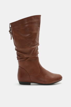 Ardene Faux Leather Mid-Calf Boots - Shoes |