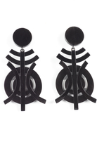 Josie Natori Horn Geo Earrings