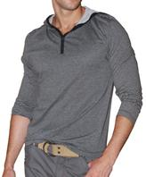 191 Unlimited Men's Striped Hooded Henley