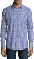 Neiman Marcus XTrim-Fit Regular-Finish Check-Print Shirt
