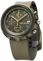 Issey Miyake Trapazoid Unisex Quartz Watch with Brown Dial Chronograph Display and Brown PU Strap SILAZ008