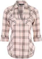 Jane Norman 3/4 Sleeve Check Shirt