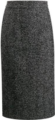 Dolce & Gabbana chevron pencil skirt