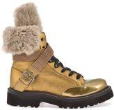 Brunello Cucinelli Leather Army Boot