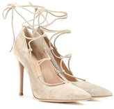 Gianvito Rossi Femì Lace-up Suede Pumps