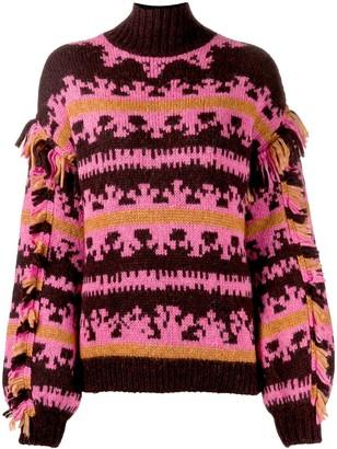 Ulla Johnson patterned chunky jumper