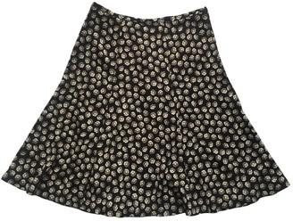 Diane von Furstenberg Black Silk Skirt for Women