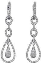 Effy Jewelry Effy Pave Classica 14K White Gold Diamond Drop Earrings, 0.84 TCW
