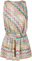 Missoni Mare zigzag sleeveless playsuit - women - Viscose - 40