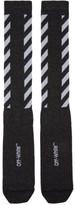 Off-White Black Glitter Diagonal Socks