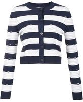 Carolina Herrera striped cropped cardigan - women - viscose/polyester - XS