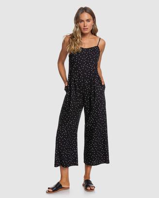 Roxy Womens In A Sunrise Strappy Wide Leg Jumpsuit