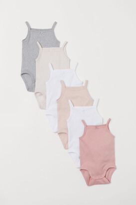 H&M 6-pack Sleeveless Bodysuits - Pink