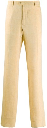 Etro Pleated Detail Textured Trousers