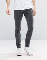 Pull&Bear Super Skinny Jeans In Washed Black