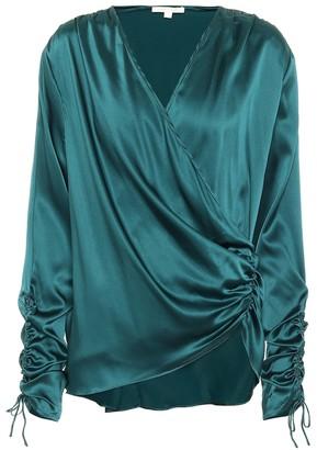 Jonathan Simkhai Stretch-silk satin blouse