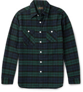 Beams Slim-Fit Black Watch Checked Cotton-Flannel Shirt