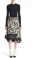 Proenza Schouler Women's Long Sleeve Knit & Georgette Dress