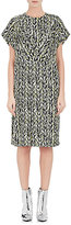 Balenciaga WOMEN'S ABSTRACT-PRINT CREPE DRESS