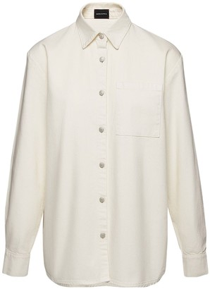 Magda Butrym Oversized Cotton Denim Shirt