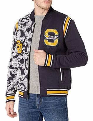 Sean John Men's Varsity Paisley Panther Split Track Jacket