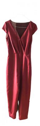 Rime Arodaky Burgundy Silk Jumpsuits