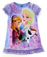 "Disney Frozen Big Girls' ""Sister Bubbles' Nightgown"