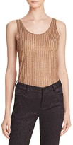 Alice + Olivia Annmarie Metallic Ribbed Tank