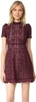 BB Dakota Adelina Mock Neck Lace Dress