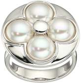 Majorica 8mm Round Luck Sterling Silver Ring