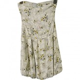 Patrizia Pepe Ecru Silk Dress for Women