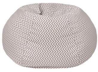 Ebern Designs Large 100% Cotton Bean Bag Chair Fabric: Storm Gray
