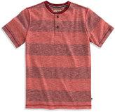Lucky Brand Perma Red Stripe Henley - Toddler & Boys
