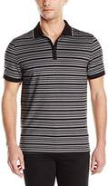 Calvin Klein Men's Short Sleeve Textured Auto Grindle Polo Shirt
