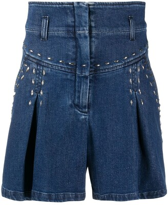 Alberta Ferretti High-Rise Denim Shorts