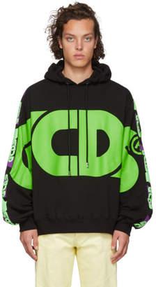 GCDS Black Large Logo Hoodie