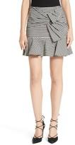Veronica Beard Women's Picnic Check Bow Miniskirt