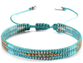 Mishky Turquoise & Brown Track Bead Bracelet