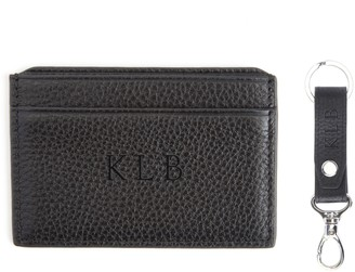 Royce Leather Royce New York Personalized RFID Card Case andKey Fob Set