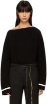 Haider Ackermann Black Duval Boatneck Sweater
