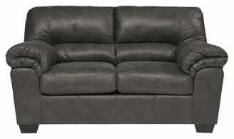 Signature Design by Ashley Bladen Contemporary Plush Upholstered Loveseat - Slate Gray