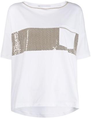 D-Exterior sequin-embellished T-shirt